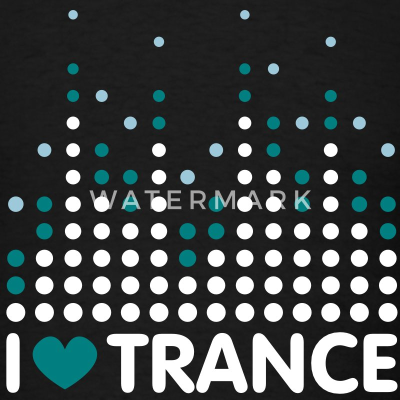 I Love Trance Men's T-shirts - Men's T-Shirt