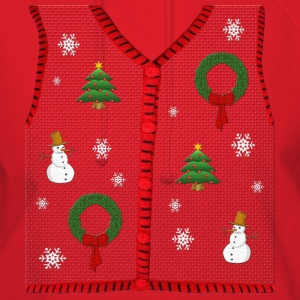 Funny Ugly Christmas Sweater Vest Design T-Shirt - Women's Hoodie