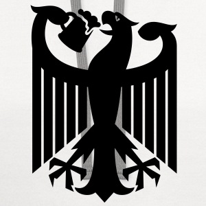 Coat of arms of Germany (drinking beer) T-Shirts - Contrast Hoodie