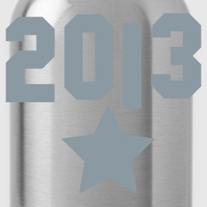 2013 and a silver star Hoodies - Water Bottle