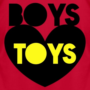 boys toys on a love heart Hoodies - Men's T-Shirt by American Apparel