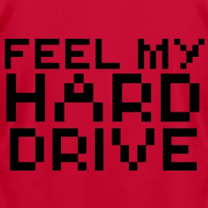 Computer humor- in Pixels feel my hard drive Hoodies - Men's T-Shirt by American Apparel