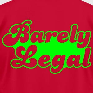 barely legal Hoodies - Men's T-Shirt by American Apparel