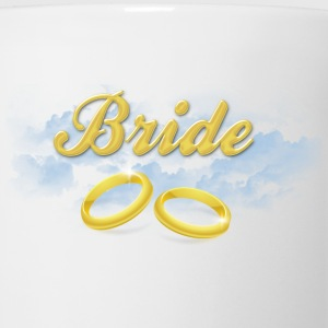 Bride, Gold Wedding Rings and Blue Clouds Women's T-Shirts - Coffee/Tea Mug