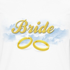 Bride, Gold Wedding Rings and Blue Clouds Women's T-Shirts - Men's Premium Long Sleeve T-Shirt