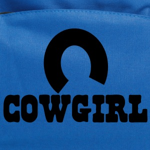 cowgirl with horseshoe Kids' Shirts - Computer Backpack