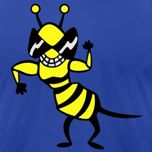 cool bee - wasp Hoodies - Men's T-Shirt by American Apparel