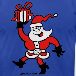 Santa Claus Brings a Gift Hoodies - Men's T-Shirt by American Apparel