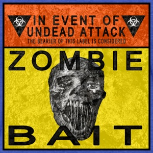 Zombie Bait Label Sweatshirts - Fitted Cotton/Poly T-Shirt by Next Level