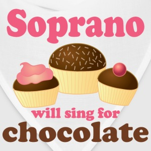 Soprano Music (Sing For Chocolate) Womens T-shirt - Bandana