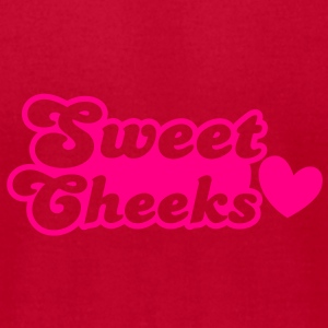 sweet cheeks with cute little love heart Baby Bodysuits - Men's T-Shirt by American Apparel