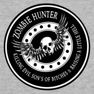 Zombie Hunter Ring Patch Revised Long Sleeve Shirts - Sweatshirt Cinch Bag