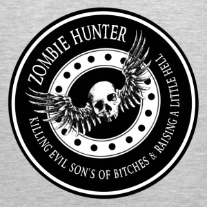 Zombie Hunter Ring Patch Revised Long Sleeve Shirts - Men's Premium Tank