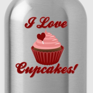 I Love Cupcakes Long Sleeve Shirts - Water Bottle