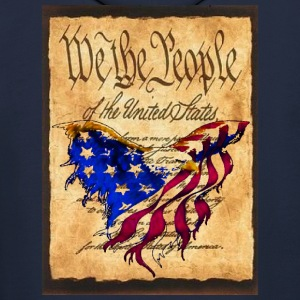 We The People American Eagle Flag Short Sleeve Sweat Shirt w/design on back - Men's Hoodie