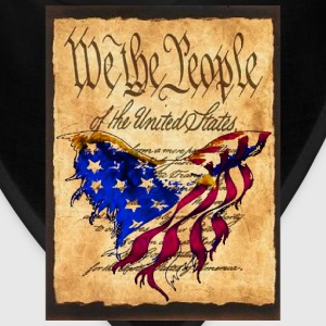 We The People American Eagle Flag Short Sleeve Sweat Shirt w/design on back - Bandana
