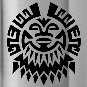 $ Mayan Tribal Face VECTOR Caps - Water Bottle