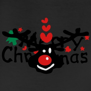 Merry Christmas txt reindeer vector graphic line art Men's T-Shirt by American Apparel - Leggings