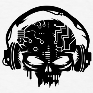 cyber Skull with headphones Caps - Men's T-Shirt