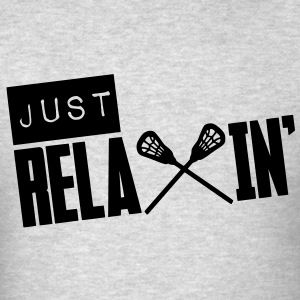 Just Relaxin' (Lacrosse) Long Sleeve Shirts - Men's T-Shirt