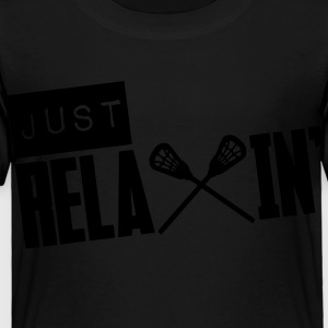 Just Relaxin' (Lacrosse) Kids' Shirts - Toddler Premium T-Shirt