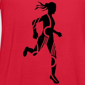 Cross country tribal female Women's T-Shirts - Women's Flowy Tank Top by Bella
