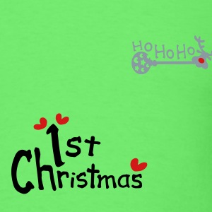 1st Christmas txt reindeer christmas vector art Baby Short Sleeve One Piece - Men's T-Shirt