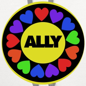 Gay rights Str8 Ally - Contrast Hoodie