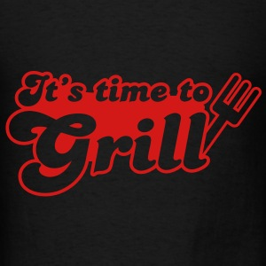 it's time to grill with bbq fork Bags  - Men's T-Shirt