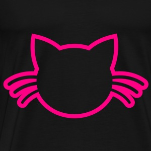 cat with whiskers outline Bags  - Men's Premium T-Shirt