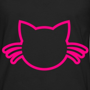 cat with whiskers outline Bags  - Men's Premium Long Sleeve T-Shirt