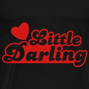 little darling with cute little love heart Bags  - Men's Premium T-Shirt