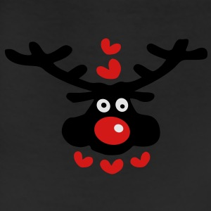 cute christmas reindeer hearts love vector art Womens Wideneck Sweatshirt - Leggings