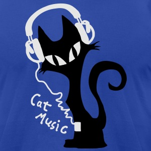 cats music headphones Hoodies - Men's T-Shirt by American Apparel