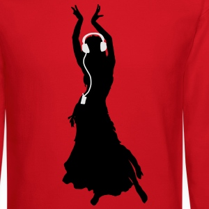 Flamenco dancing Dancing Queen Headphones T-Shirts - Crewneck Sweatshirt