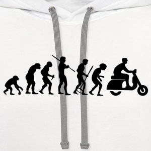 Motorcycle Rider Evolution Scooter Vespa - Contrast Hoodie