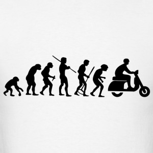 Motorcycle Rider Evolution Scooter Vespa - Men's T-Shirt