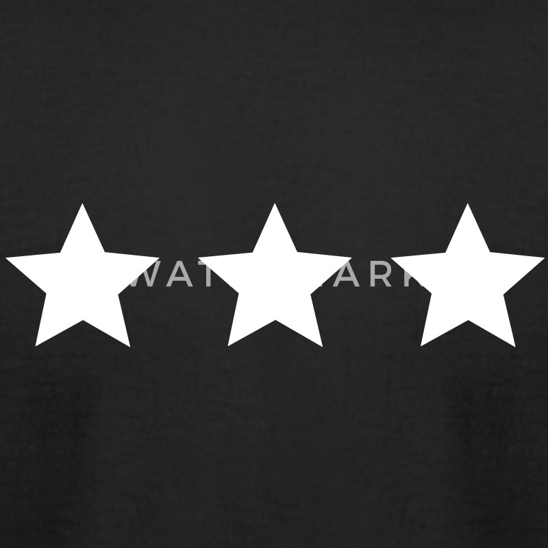 three star T-Shirts - Men's T-Shirt by American Apparel