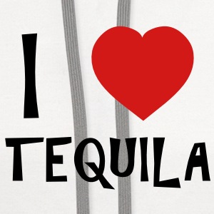 I Love Tequila T-Shirts - Contrast Hoodie