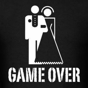Game Over Bride Groom Wedding Hoodies - Men's T-Shirt