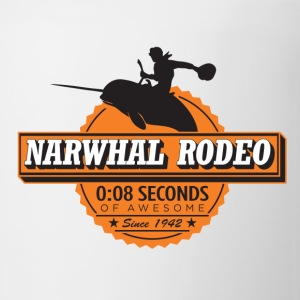 Narwhal Rodeo Awesome (orange) Long Sleeve Shirts - Coffee/Tea Mug