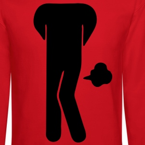 Funny Farting Restrooms / Toilet Sign (Headless) Women's T-Shirts - Crewneck Sweatshirt