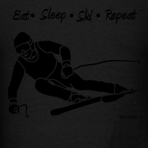 Eat Sleep Ski Repeat - bw - new001 - Men's T-Shirt