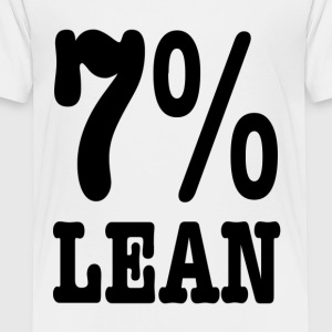 7% Lean -- Fat Large big Kids' Shirts - Toddler Premium T-Shirt