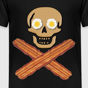 Bacon Pirate Food Kids' Shirts - Toddler Premium T-Shirt