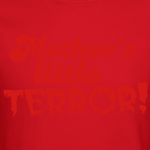 mother's little terror! with blood dripping font Women's T-Shirts - Crewneck Sweatshirt