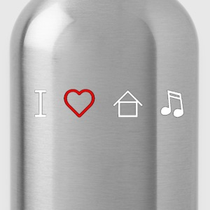 I Love House Music - Water Bottle