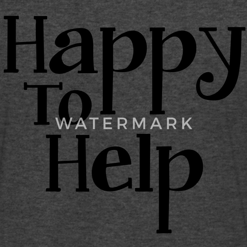 Happy to help T-Shirts - Men's V-Neck T-Shirt by Canvas