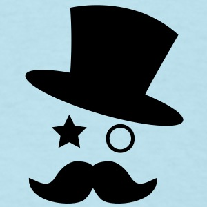 top hat and monocle with mustache Baby Bodysuits - Men's T-Shirt