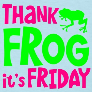 THANK FROG IT's FRIDAY office humour with cute little frog Baby Bodysuits - Men's T-Shirt